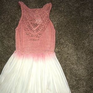 Summer Crochet Pink Dress!